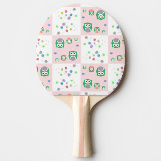 Colourful Owl Pattern For Kids Ping Pong Paddle