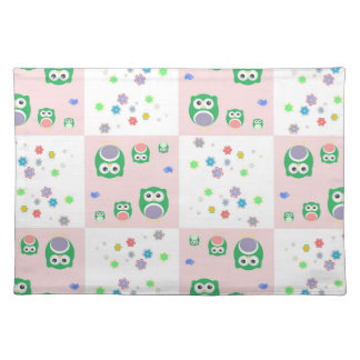 Colourful Owl Pattern For Kids Placemat