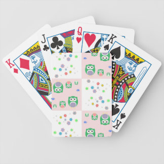 Colourful Owl Pattern For Kids Bicycle Poker Cards
