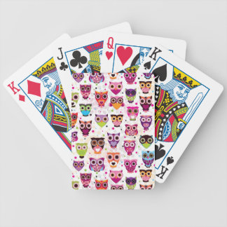 Colourful Owl Pattern For Kids Poker Cards