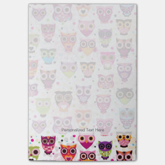 Colourful Owl Pattern For Kids Post-it® Notes