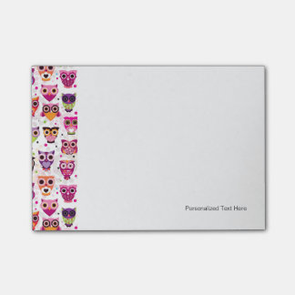 Colourful Owl Pattern For Kids Post-it Notes