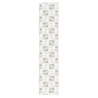 Colourful Owl Pattern For Kids Short Table Runner