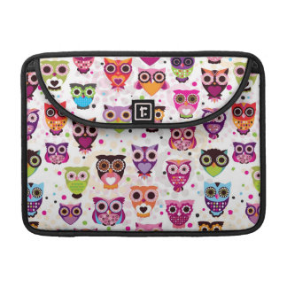 Colourful Owl Pattern For Kids Sleeves For MacBook Pro