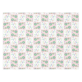 Colourful Owl Pattern For Kids Tablecloth