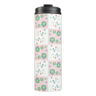 Colourful Owl Pattern For Kids Thermal Tumbler