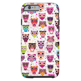 Colourful Owl Pattern For Kids Tough iPhone 6 Case