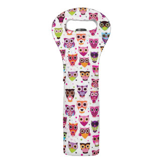 Colourful Owl Pattern For Kids Wine Bag