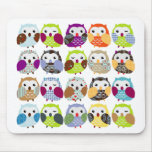 Colourful Owl Pattern Mouse Pad