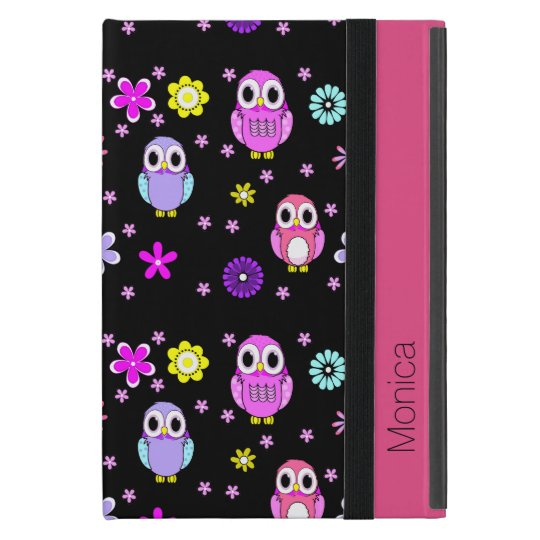 Colourful Owls Personalised iPad Mini Folio Case
