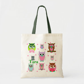 Colourful Owls Tote Bag