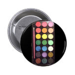 Colourful Paint Box Rainbow 6 Cm Round Badge