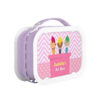 Colourful Paint Brushes Artists Art Box For Girls