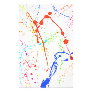 Colourful Paint Splats Stationery