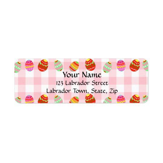 Colourful Painted Easter Eggs Return Address Label