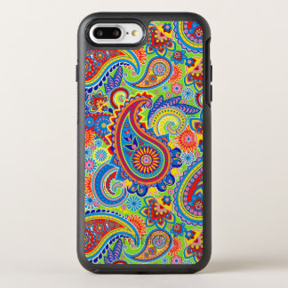 Colourful Paisley Seamless Pattern OtterBox Symmetry iPhone 7 Plus Case