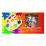 Colourful Palate Art Party Personalised Photo Card