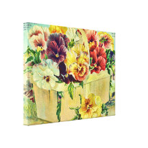 Colourful Pansy Flowers Vintage Seed Packet Cover