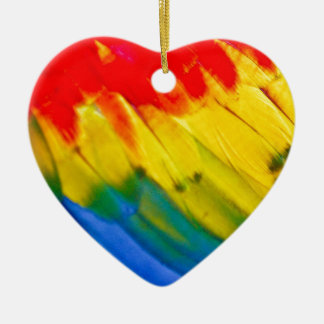 Colourful parrot wing ceramic heart decoration