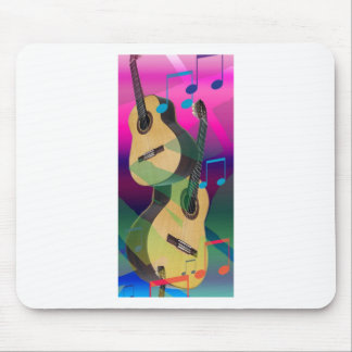 Colourful Party Guitars Mousemat