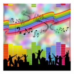 Colourful Party Music Poster