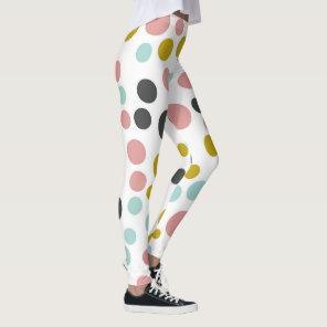 Colourful Pastel Polka Dots | Leggings