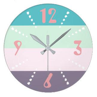 Colourful Pastel Wall Clocks