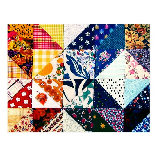 Colourful Patchwork Quilt Crafty Crafter's Postcard