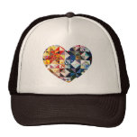 Colourful Patchwork Quilt Heart