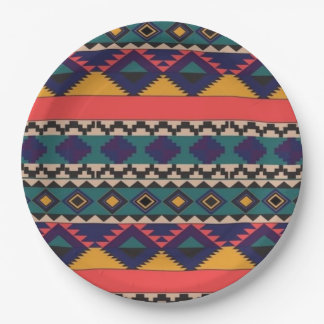 """Colourful Patter of Love- Paper Plates 9"""""""