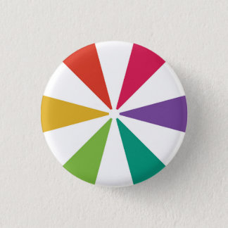 Colourful Pattern 6 Colours 3 Cm Round Badge