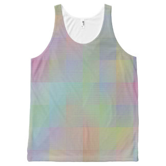 Colourful pattern All-Over print tank top