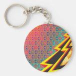 "Colourful Pattern Creation ""Flash Gordon"" Basic Round Button Key Ring"