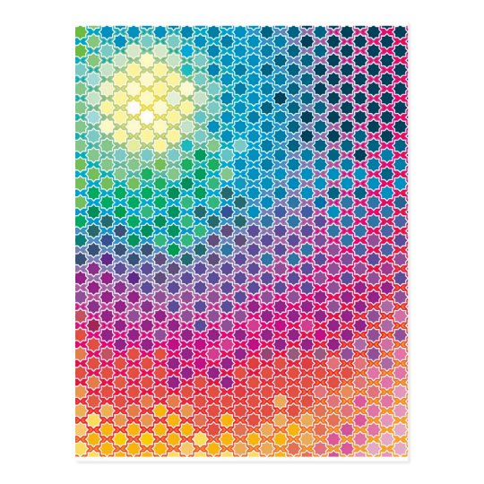 "Colourful Pattern Creation ""Starlight"" Postcard"