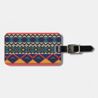 Colourful Pattern of Love Luggage Tag