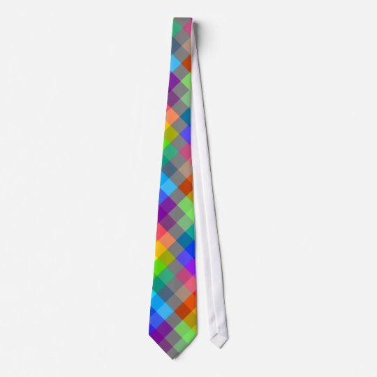 Colourful pattern. Rainbow Colours. Tie