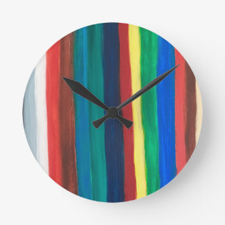 Colourful pattern round clock