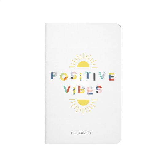 Colourful Pattern Typography Positive Vibes Modern Journal