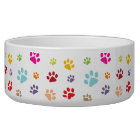 Colourful Paw Prints Pet Bowl