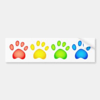 Colourful Paws Bumper Sticker