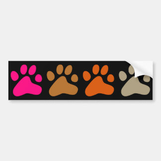 Colourful Paws Bumper Sticker