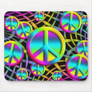 colourful PEACE Mouse Pad