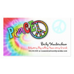 Colourful PEACE Profile Card Pack Of Standard Business Cards