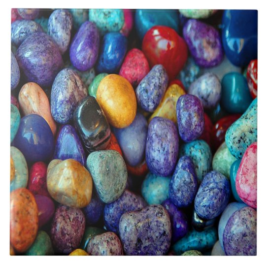 Colourful Pebbles and Stone Ceramic Tile