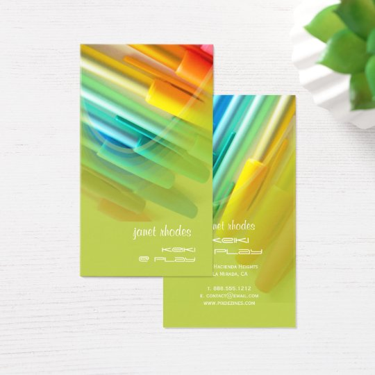 Colourful Pens/Designer Business Card