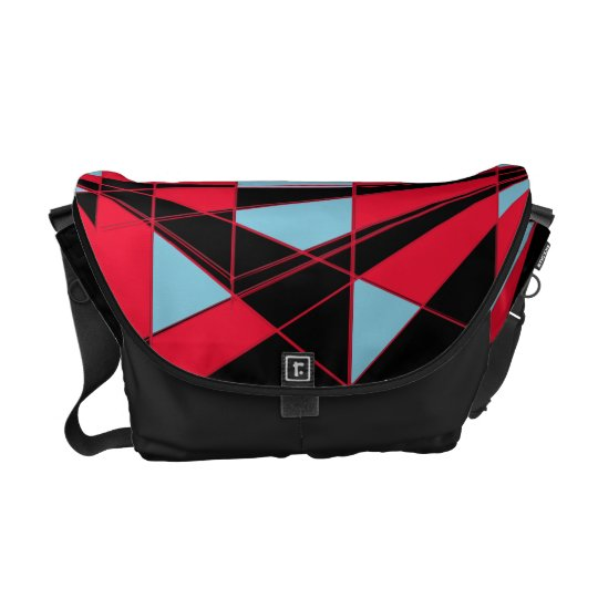 Colourful perspective (black) commuter bag
