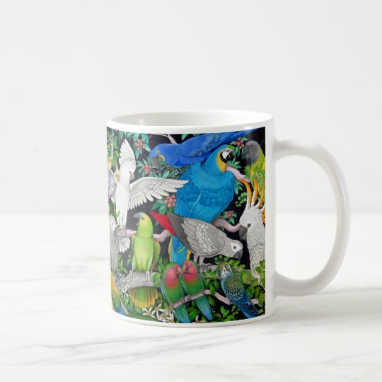 Colourful Pet Parrots of the World Mug