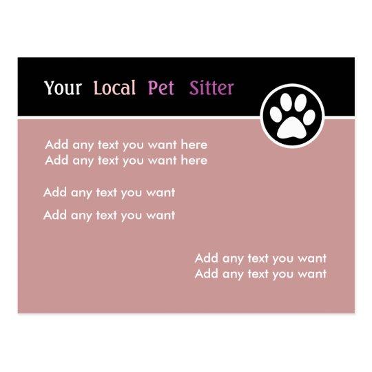 Colourful Pet Sitter Postcard