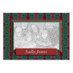 Colourful Photo Frame Business Card Templates