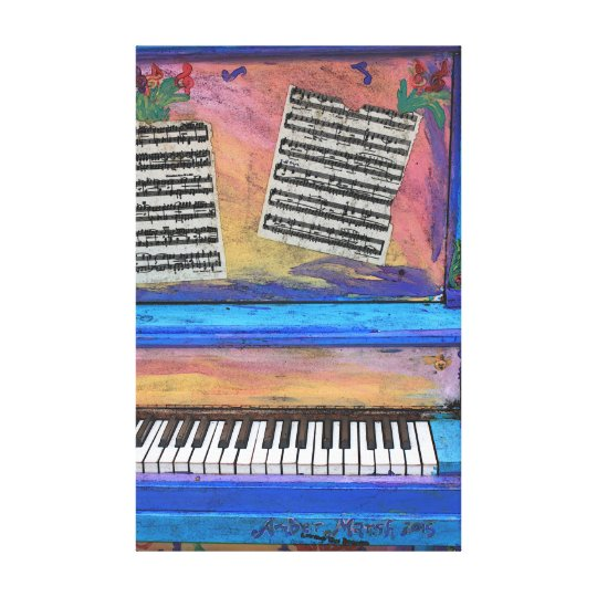 Colourful Piano Canvas Print